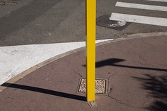 outside2 (lux fecit) Tags: street sun yellow cannes shapes sidewalk