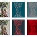 Kimono Bamberg Monastery Benediktiner Kloster St. Michael Michelsberg - Engel Vogelscheuche Antonius von Padua von Lissabon gebrochenes Glas - Schnittmuster Variation , Work in Progress Paper Pattern Cut Sheet Polyptych 6 Variationen Verlauf - an Ort und