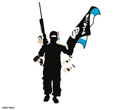 behind ISIS (khalid Albaih) Tags: khalid albaih cartoons khartoon freedom speech press political       refugees welcome isis is islamic belgam make america great again madonna iraq syria sudan yemen listen gob