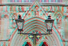 Cathedral Minster York 3D (wim hoppenbrouwers) Tags: york 3d cathedral anaglyph stereo minster redcyan cathedralminsteryork