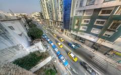 Algiers Avenue (Yassine Abbadi) Tags: road bridge sea sky cloud mountain beach grass plane sunrise buildings spring hill mosque morocco maroc hdr tetuan tetouan martil bouanane
