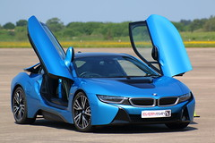 IMG_0190 (Yorkshire Pics) Tags: blue cars transport transportation bmw bluecar 0506 supercars i8 elvington everymanracing bmwsupercar bmwi8 05062016