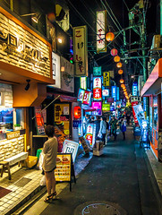 Ikebukuro, Tokyo (Arutemu) Tags: street city japan night canon asian japanese tokyo asia view nightscape nightshot scenic ciudad scene nighttime citylights vista ikebukuro   nightview  japonesa japon japones ville  nightstreet japonais            japonaise