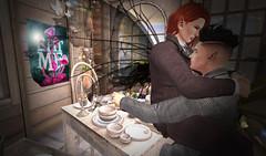 Dinner for Two (niki wirefly) Tags: male men love wings couple sl fairy fantasy secondlife fairey niki fae lufian
