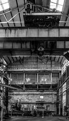 Factory (shashin62) Tags: sydney nsw australia cockatooisland ww2 factory machinery bw