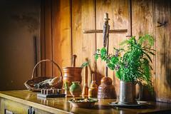 Historic Hamptonne Museum, Jersey (MacBeales) Tags: hamptonne museum jersey history historic herbs old sideboard candle artefacts pewter jug nik canon eos