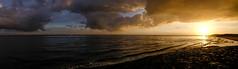 Sunset on the Dutch coast (Wouter de Bruijn) Tags: sunset sea sky panorama seascape nature water night clouds river landscape evening coast outdoor dusk pano noordzee zeeland coastal northsea fujifilm vlissingen flushing walcheren westerschelde xt1 westernscheldt fujinonxf14mmf28r