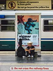 waiting a train (lorenzog.) Tags: people italy reflection train walking mirror railway railwaystation bologna emiliaromagna 2016 bolognacentrale bolognacentralerailwaystation waitingatrain