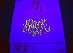 caligrafa fluorescente /2 (angie.qs) Tags: light black letters calligraphy blackletter letras caligrafia caligrafa handletter gothicletters customletters