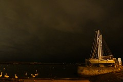 Moody Sky (Mel Byrne) Tags: ireland sky cloud nature night dark boat photo swan sand harbour wildlife sony sail alpha capture bray discover flickrandroidapp:filter=none