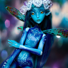 Ceecee the only blue one part 2 (Sakura-Streifchen) Tags: ombre bjd balljointed balljointeddoll lillycat ebjd cerisedolls cerisedoll amahtalafaceups amahtalacreations