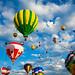 Vibrant Hot Air Balloons