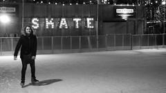 skate (byronv2) Tags: street blackandwhite bw woman girl monochrome sign night blackwhite edinburgh candid iceskating skating princesstreetgardens princesstreet christmasmarket icerink skate skater neonsign newtown nuit iceskater illuminatedsign edinburghbynight festivemarket