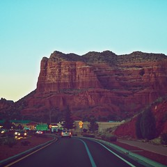 (seanlewis) Tags: road arizona mountains cars dusk sedona