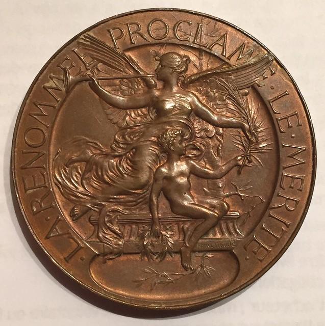 NANTES, médaille de la Mi-Carême, 1890 avers (photo : Gildas Salaün)