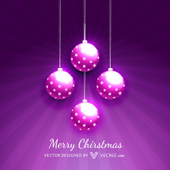beautiful christmas balls (vecree.com) Tags: christmas new xmas winter light holiday beautiful illustration ball season happy star shiny december glow shine artistic background year banner decoration celebration card sphere gift present merry greeting vector