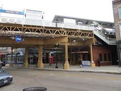 Damen (Blue Line) Reopens (cta web) Tags: railroad wickerpark chicago building station construction cta blueline transport railway turnstiles transportation transit westside platforms bucktown westtown ctablueline northwestside