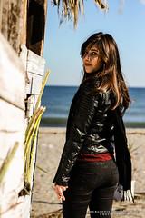 christina 6 (Kostas Gourgiotis (Cost@s)) Tags: sea sun black sexy girl leather scarf canon photoshoot cigarette christina journal smoking jeans jacket brunette bikers kostas 50mmf18ii a 60d gourgiotis