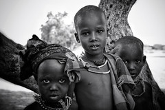 Arbore kids, Lower Omo Valley, Ethiopia (MeriMena) Tags: africa travel bw kids faces tribes omovalley ethiopia arbore portrates canon450d merimena