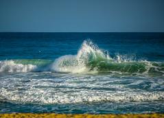DSC09186 (Falcdragon) Tags: barcelona christmas new winter sea holiday beach spain mediterranean waves break minolta sony mc years alpha f28 a7 135mm rokkor ilce7