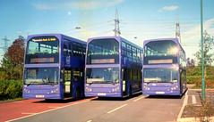 Ipswich Buses PN52XBO, PN52XBK, PN52XBJ 2 Bury Road October 2002 (The original SimonB) Tags: 2002 film buses suffolk october transport scanned ipswich eastlancs ipswichbuses