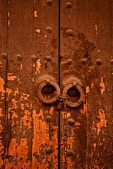 Rusty Door (Victoria Lea B) Tags: door red orange rust lock morocco marrakech