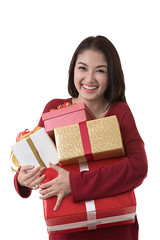 Asia lady hold gift box (anekphoto) Tags: birthday santa christmas new xmas winter red woman white holiday tree green girl beautiful beauty smile face fashion lady female ball asian thailand happy golden holding asia open symbol box decorative background year seasonal decoration young newyear fresh celebration tape gift tinsel thai attractive surprise newyears ribbon claus decor celebrate decorate isolated
