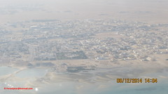 Al Wakrah City from Airplane before Landing at Hamad International Airport - State of Qatar (Feras.Qadoura1) Tags: city airport state international hamad doha qatar       othh