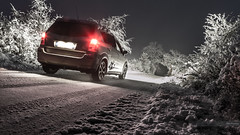 Route enneige de Lozre (yriann48) Tags: road winter snow kevin hiver voiture toyota neige nuit canon6d snowandroad