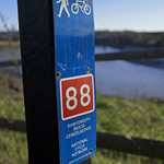 Caerleon cycle path sign