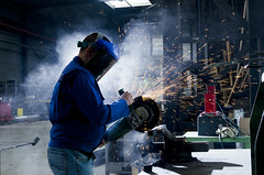 SHREDDER (hereistoentrophy) Tags: metal lights carousel company spark economy schred