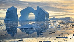 Midnight dream (loveexploring) Tags: reflection boat fishing greenland iceberg midnightsun ilulissat diskobay baffinbay archediceberg