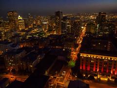 Cable car at dusk (garyeverettdavis) Tags: buildings nightscape vehicle urbanscenery