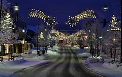 Jessheim main street, Christmas decorations (Inger Bjørndal Foss) Tags: christmas decorations mainstreet jessheim