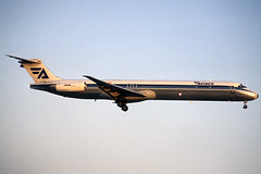 Aviaco MD-88 EC-FIG BCN 17/04/1995 (jordi757) Tags: barcelona airplanes bcn douglas avions mcdonnell elprat md88 aviaco lebl ecfig