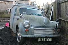 old english classic abandoned grey tv ancient 1988 rusty commercial 1950s vehicle british morris van mould minor rare timewarp electrics unloved mouldy 166ewv