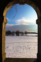 winter walkers (Photasia) Tags: uk snow landscape countryside archway nottinghamshire ollerton snowscape countryhouse listedbuilding historicbuilding thoresbyhall budby gradeibuilding historialmonument photasia