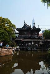Yu Yuan Garden (Silvia Sala) Tags: china trip travel red travelling green tourism nature water garden pagoda asia shanghai chinese   yuyuangarden chinesestyle
