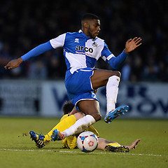 """Bristol Rovers v Torquay United 010115 • <a style=""""font-size:0.8em;"""" href=""""https://www.flickr.com/photos/125622569@N04/15997348000/"""" target=""""_blank"""">View on Flickr</a>"""