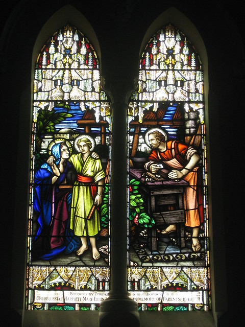 The Harriet Mary Ellis Memorial Stained Glass Window of the Holy Family; St Judes Church of England - Corner of Lygon, Palmerston and Keppel Streets, Carlton