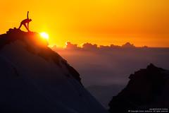 Above the Clouds (Anton Jankovoy (www.jankovoy.com)) Tags: nepal sunset sky sun man mountains sport yoga clouds sunrise infinity pass peak hills himalayas asana   langtang          gosaikunda