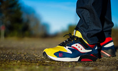 Saucony GRID 9000 Play Cloths MX (DRUMatthias) Tags: red white black leather yellow grid shoes play sony flash hard sneakers runners rise cloths suede 3m 9000 saucony retros kotd wiwt wdywt unds sauconyoriginals pigsuede todayskicks grid9k nex5t grid9000 iwearmypairs playcoths