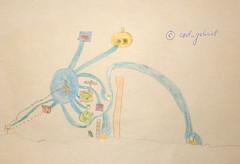 """Angry Birds"" drawing by my 6yo son (cod_gabriel) Tags: drawing son dessin dibujo filho fiu tegning desenho disegno hijo fils zeichnung tekening sohn figlio  teckning rysunek rajz piirustus   desen angrybirds menggambar    badpiggies badpiggy electricbomb"