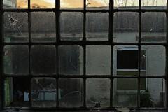 Urbex Pane (The Tekknician) Tags: wood abandoned window glass pain alone room garage sharp explore dirt ledge smashed transparent pane borken unloved urbex drak abandonedment explorartion adventaure