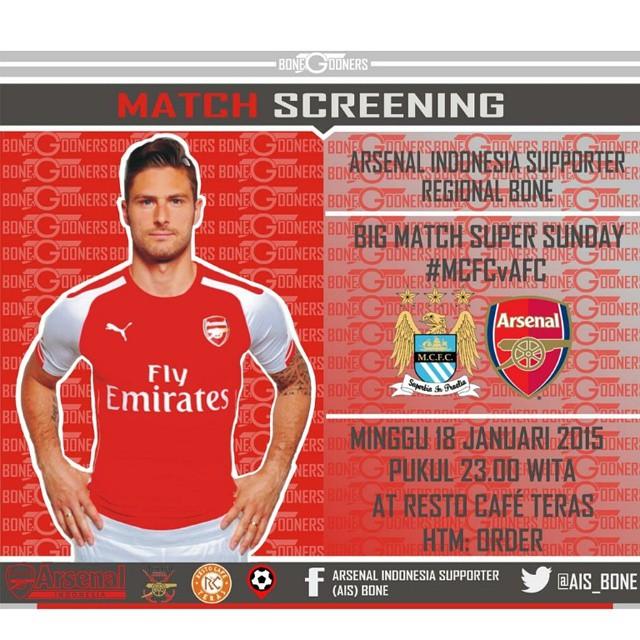 Lokasi Nobar: Rekomendasi Lokasi Nobar Bone | @Ais_bone | MCFC vs Arsenal | Cafe Teras