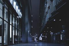 Down To The Scoop (Niall97) Tags: city uk england urban london glass station modern canon underground lens eos lights britain camden capital tube wharf l 5d british canary fullframe dslr canarywharf shard f28 towerhill lseries 2470mm bigsmoke markiii theshard