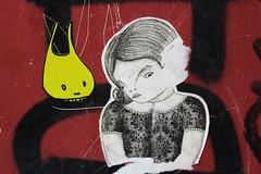 MC 1984 + Pole Ka_8891 rue Dénoyez Paris 20 (meuh1246) Tags: streetart paris belleville animaux lapin mc1984 ruedénoyez paris20 poleka