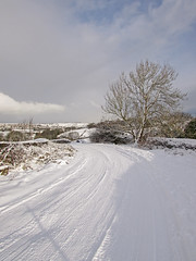 Snow in Station Road, Queensbury