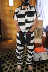 IMG_7926 (bob.laly) Tags: uniform chain jail shackles padlock handcuffs prisoner jumpsuit inmate