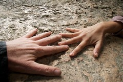 the great meeting (diminoc) Tags: baby love stone hands hand together iloveyou reach darling habibi grasp